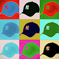 Yankees Ball Cap Pop Art by Dan Sproul