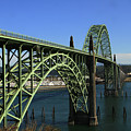 Yaquina Bay Bridge In Newport. Oct. 4, 2015 by California Views Archives Mr Pat Hathaway Archives