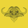 Yellow Buffalo by Naxart Studio