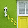 Yellow Door And Green Wall In Bo-kaap by Rob Huntley