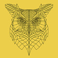 Yellow Owl by Naxart Studio