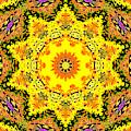 Yellow Sunflower 1c by Artist Dot