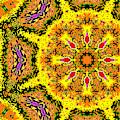 Yellow Sunflower 1e by Artist Dot