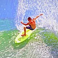 Yellow Surf Board by Alice Gipson