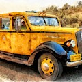 Yellowstone National Park Vintage Coach by Edward Fielding