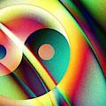 Yin And Yang Rainbow by Kiki Art
