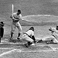 Yogi Has It Out. Jackie Robinson, With by New York Daily News Archive