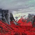Yosemite Valley In Red by Jon Glaser