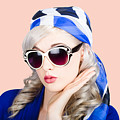 Young Beautiful Retro Girl In Glasses by Jorgo Photography - Wall Art Gallery