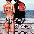 Young Hippie Couple, She Bikini Clad And by Lynn Pelham