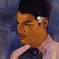 Young Man With A Flower Behind His Ear 1891 by Gauguin Paul