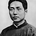 Young Mao Tse Zedong by Chinese School