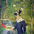Young Woman At The Entrance Of The Bellevue Garden  Marguerite by Edouard Manet