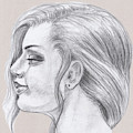 Young Woman Head Study Profile by Irina Sztukowski