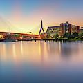 Zakim Bridge At Dawn by Kristen Wilkinson