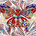 Zen Butterfly Abstract Digital Mixed Media Artwork By Omaste Witkowski by Omaste Witkowski