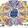Zen Flower Abstract Meditation Digital Mixed Media Art By Omaste Witkowski by Omaste Witkowski