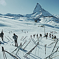 Zermatt Skiing by Slim Aarons
