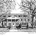 Zeta Tau Alpha Sorority House, Purdue University, West Lafayette, Indiana, Fine Art Print by Stephanie Huber