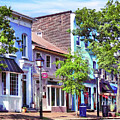 Alexandria VA - Blue Buildings on King Street Tote Bag for ...