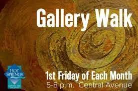 Visiting Artist at Gallery Walk in Hot Springs Arkansas