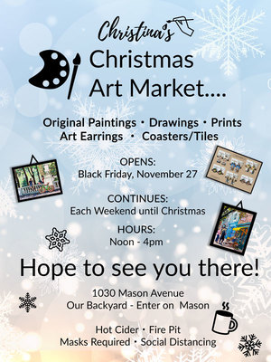 Christina's Outdoor Christmas Art Market