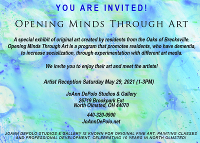 Opening Minds Through Art in May at JDSG