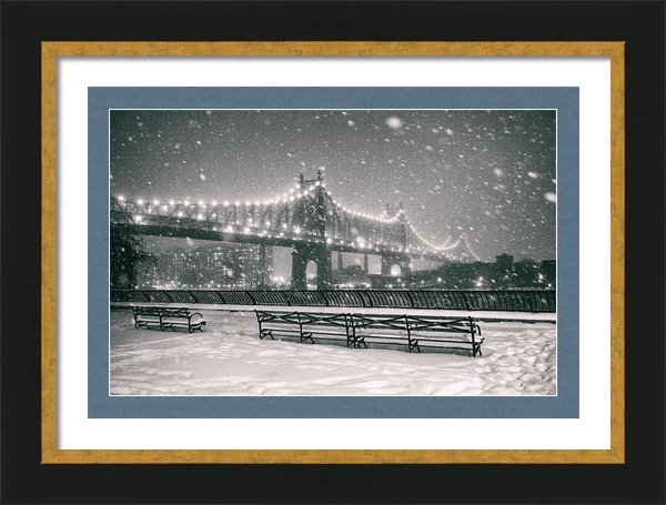 Vivienne Gucwa - New York City - Snow at N... Print