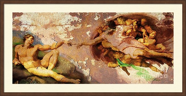 Wingsdomain Art and Photography - Michelangelo The Creation... Print
