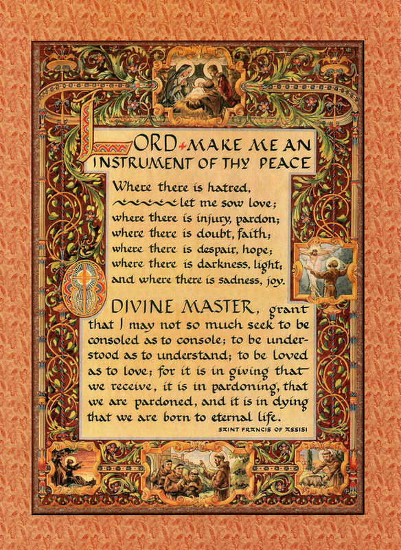 Desiderata Gallery - A Simple Prayer For Peace... Print