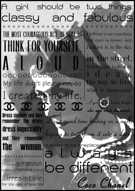Diana Van - Coco Chanel Inspirational... Print