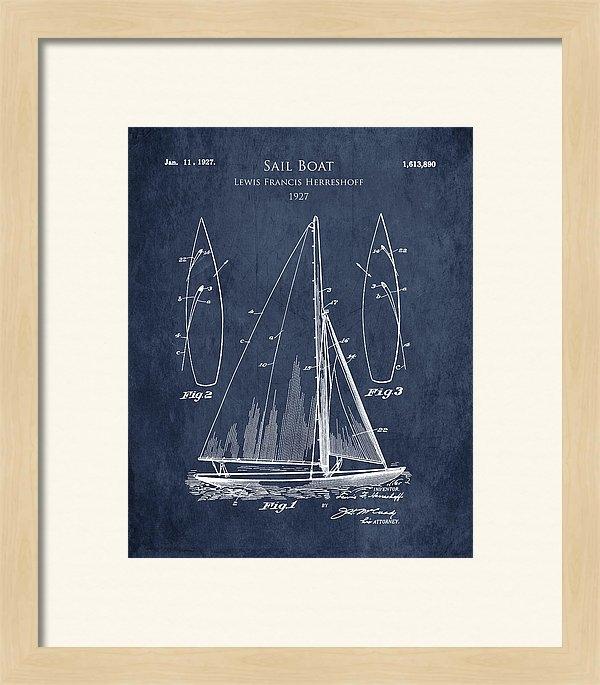Sara Harris - 1920s Sail Boat patent ar... Print
