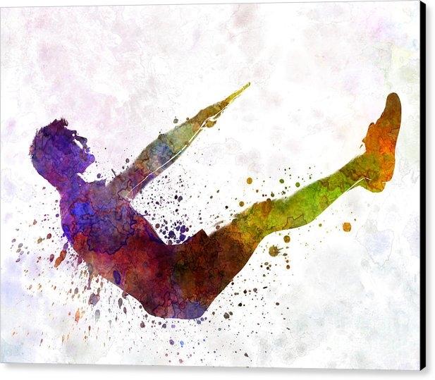 Pablo Romero - Man exercising workout fi... Print
