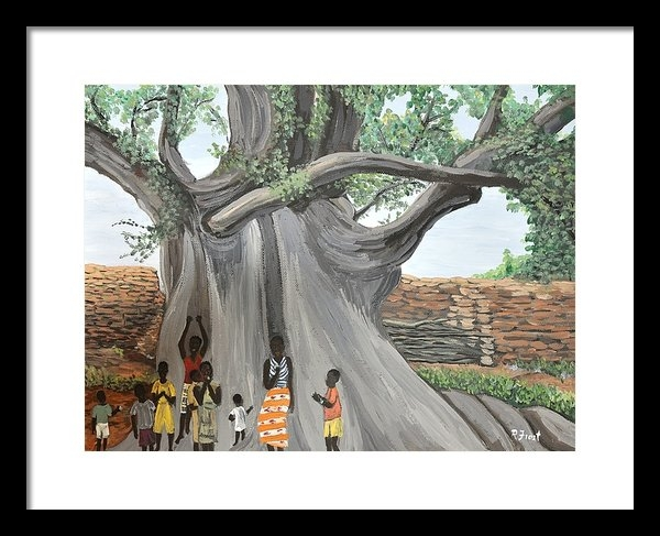 Reb Frost - Children by the Tree Burk... Print