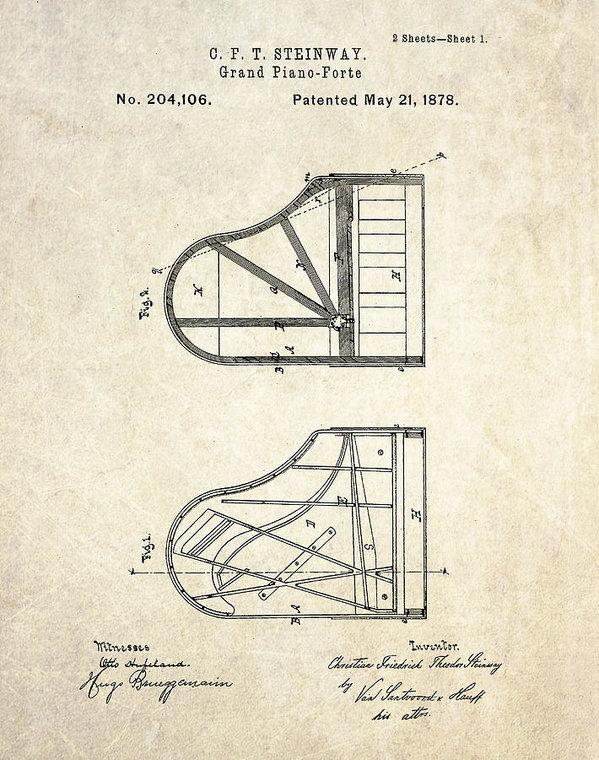 Gary Bodnar - 1878 Steinway Grand Piano... Print