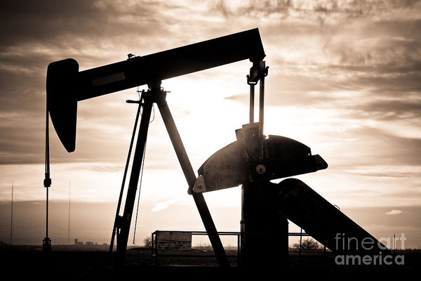 James BO  Insogna - Oil Well Pump Print