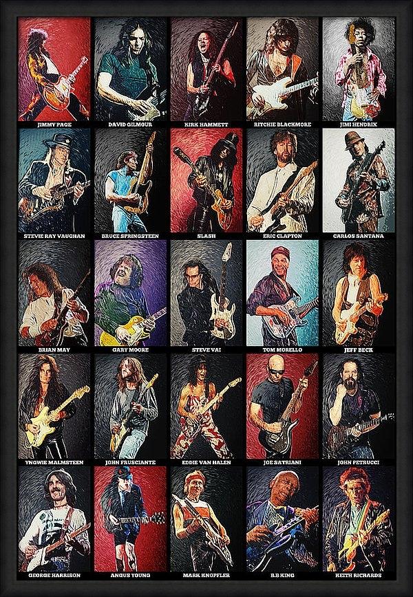 Taylan Soyturk - Greatest guitarists of al... Print