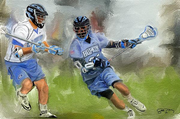 Scott Melby - College Lacrosse Attack Print