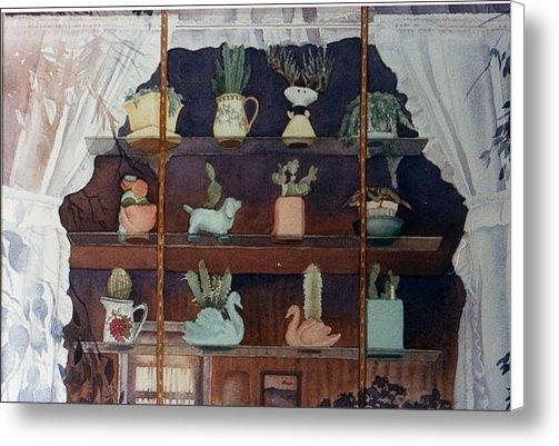Mary Helmreich - Green House Window Print