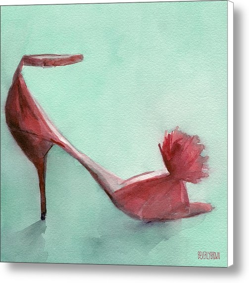 Beverly Brown Prints - High Heel Red Shoes Paint... Print