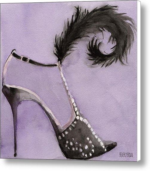 Beverly Brown Prints - Black High Heel Shoe with... Print