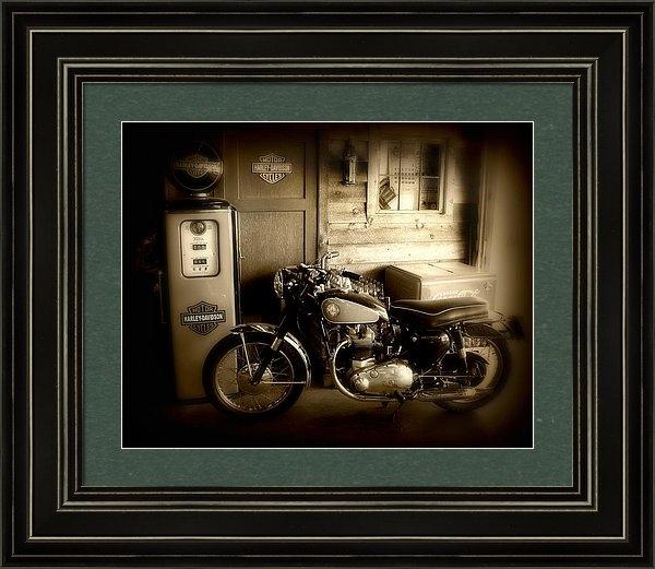 Perry Webster - Cycle Garage Print