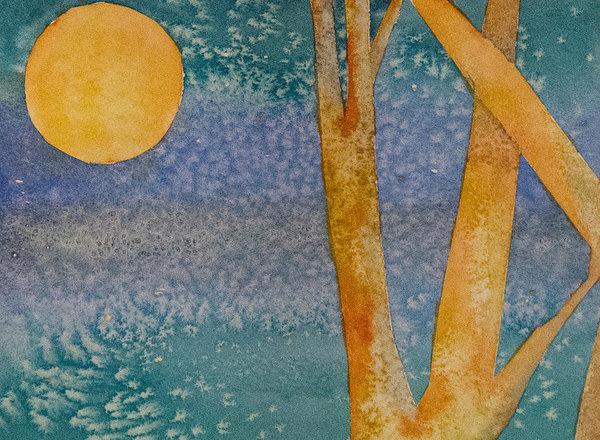 Janis Post - Harvest moon Print