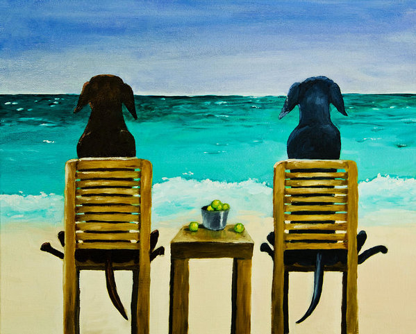 Roger Wedegis - Beach Bums Print
