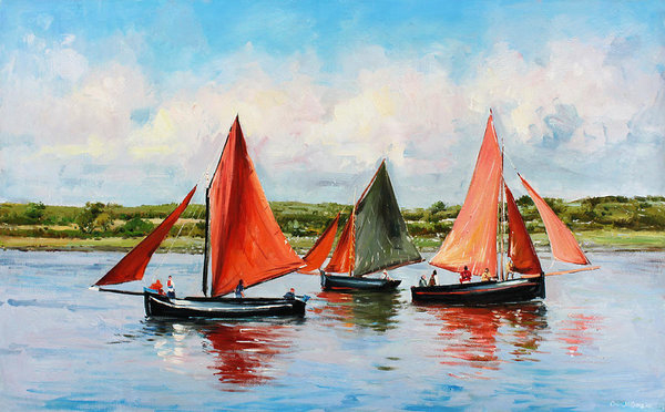 Conor McGuire - Galway Hookers Print