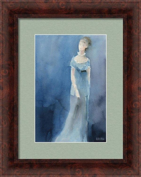 Beverly Brown Prints - Jane Austen Watercolor Pa... Print