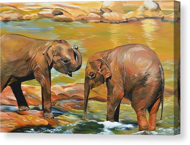 Cathy Jacobs - Elephants from Sri Lanka Print