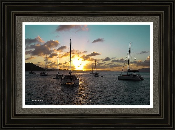 Becky Bunting - Sunset at Norman Island Print