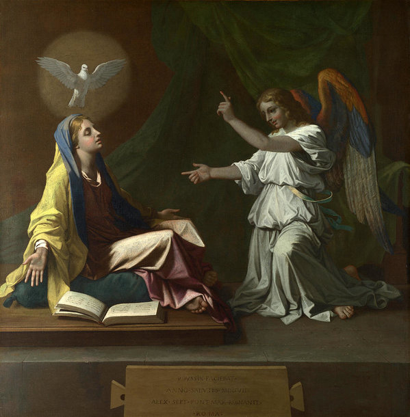 Nicolas Poussin - The Annunciation Print