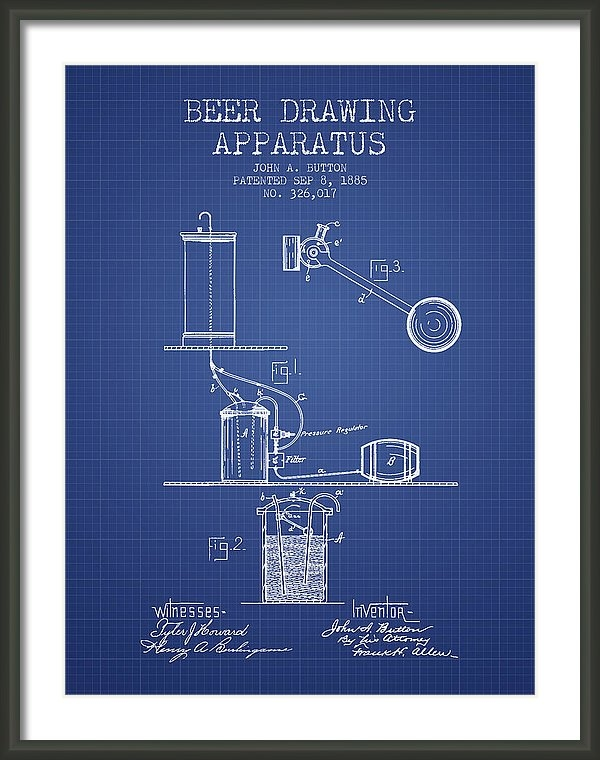 Aged Pixel - Beer Apparatus Patent fro... Print